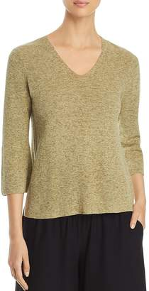 Eileen Fisher V-Neck Marled Sweater