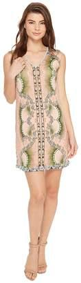 Nicole Miller La Plage By Tropical Peacock Beaded Cover-Up Dress Women's Swimwear