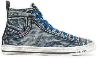Diesel washed out high top sneakers
