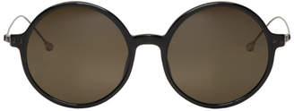 Ann Demeulemeester Black Linda Farrow Edition Round Sunglasses