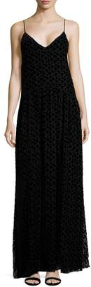 Jill Stuart Women's Taw Devore Velvet Heart Maxi Slip Dress