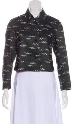 Akris Punto Linen-Blend Textured Jacket
