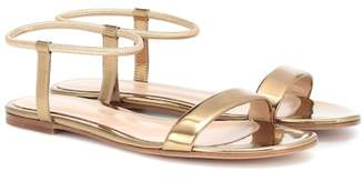 Gianvito Rossi Jaime 05 metallic leather sandals