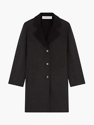 Gerard Darel Melody Contrast Collar Coat, Grey