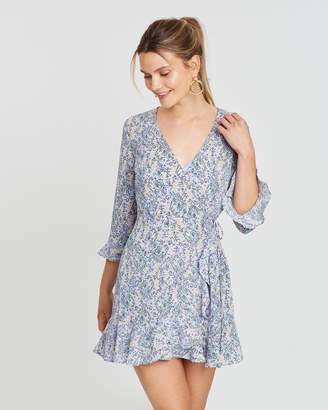 The Fifth Label Tour Wrap Long Sleeve Dress