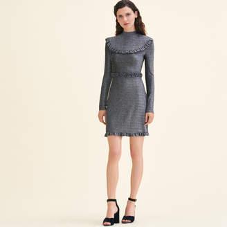 Maje Short knit dress with frills