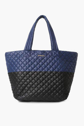 MZ Wallace Navy and Black Color Block Large Metro Tote
