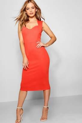 boohoo Petite Sweetheart Neckline Midi Dress