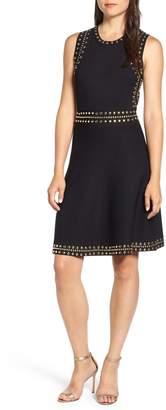 MICHAEL Michael Kors Studded Fit & Flare Dress