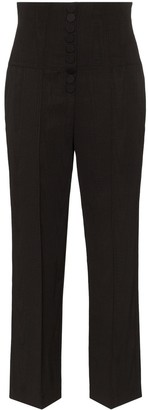 Racil high-waisted tailored trousers