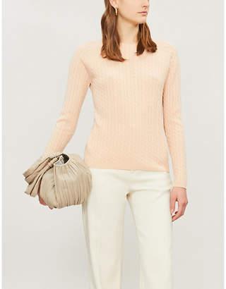 Max Mara Fleur cable-knit cashmere jumper