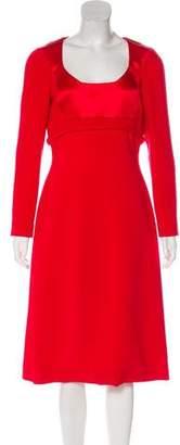 Antonio Berardi Crepe Midi Dress w/ Tags