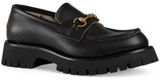 baa0f9bb5a4 Gucci Men s Django Creeper Lugged-Sole Leather Loafer