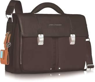 """Piquadro Link - Double Front Pocket Double Gusset 15"""" Laptop Briefcase"""