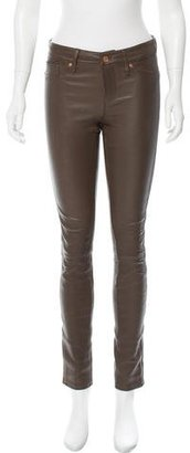 Marc by Marc Jacobs Skinny-Leg Leather Pants $175 thestylecure.com