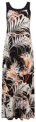 Wallis Black Palm Print Maxi Dress