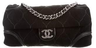 Chanel Maxi Suede Cells Flap Bag