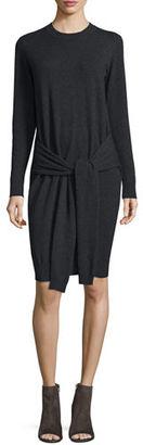 Autumn Cashmere Tie-Front Cashmere Sweaterdress $396 thestylecure.com