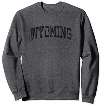 Vintage Wyoming Crewneck Sweatshirt College Style Sports USA