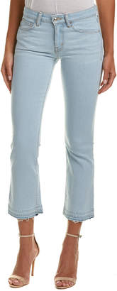 Derek Lam 10 Crosby Gia Super Light Wash Cropped Flare Leg