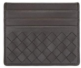 Bottega Veneta Intrecciato Leather Cardholder - Womens - Silver