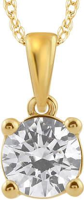 FINE JEWELRY 3/4 CT. Diamond Solitaire 14K Yellow Gold Pendant Necklace