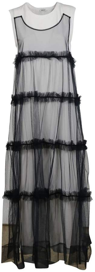 Tulle Layered Long Dress