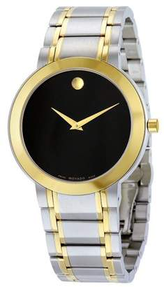 Movado Stiri Black Dial Two-tone Mens Watch 606950