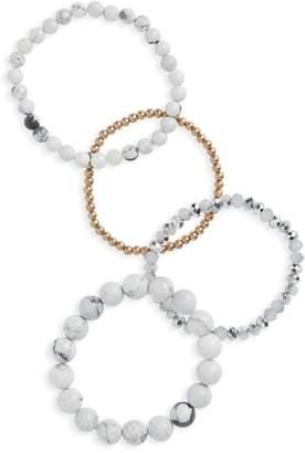 Panacea 4-Piece Stone Bracelet Set
