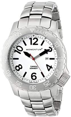 Momentum Men's Sports Watch   Torpedo Dive Watch by   Stainless Steel Watches for Men   Analog Watch with Japanese Movement   Water Resistant (200M/660FT) Classic Watch - Lume/1M-DV74L0