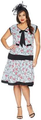 Unique Vintage Plus Size Twyla Flapper Day Dress Women's Dress