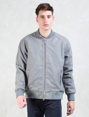 Mki Miyuki Zoku Grey Raglan Varsity Jacket
