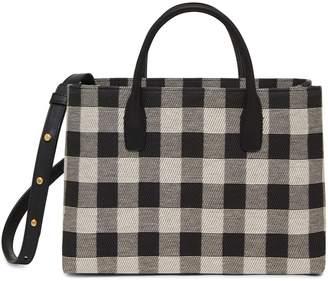 Mansur Gavriel Checker Mini Folded Bag - Black