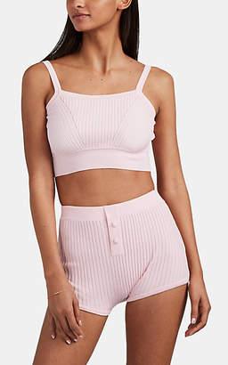 Live The Process Women's Rib-Knit Crop Top - Pink