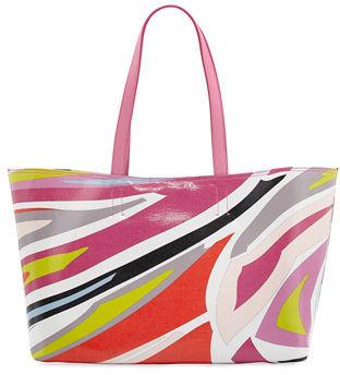Emilio Pucci Lance Printed Canvas Beach Tote Bag $835 thestylecure.com