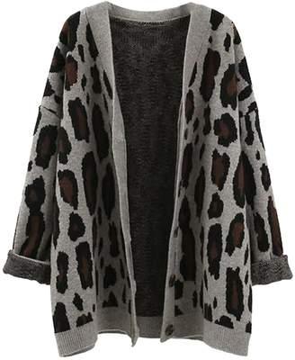 Goodnight Macaroon 'Aditi' Leopard Print Open Cardigan (3 Colors)