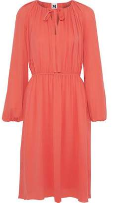 M Missoni Bow-Detailed Silk Crepe De Chine Dress