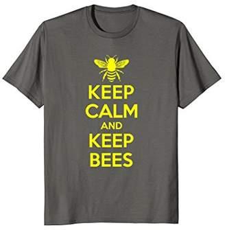 Beekeeper T-Shirt Beekeeping Shirt Keep Calm and Keep Bees