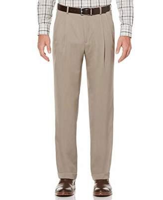 Perry Ellis Men's Big-Tall Portfolio Double Pleated Micro Melange Pant,42x36