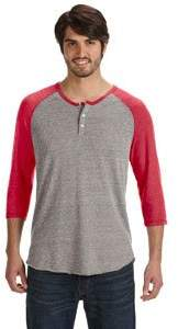 Alternative Apparel Alternative AA1989 - Men's Eco-Jersey 3/4-Sleeve Raglan Henley