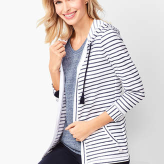 Talbots Three-Quarter Sleeve Stripe Jacket