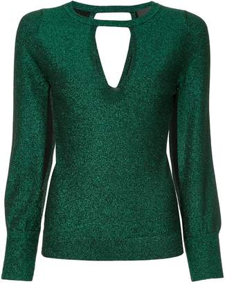 Ginger & Smart Allude Metallic Knit Top