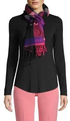 Calvin Klein Two-Piece Plaid Scarf & Gloves Set