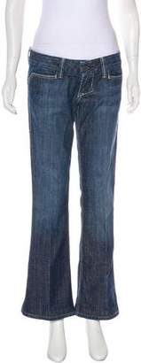 William Rast Low-Rise Wide-Leg Jeans