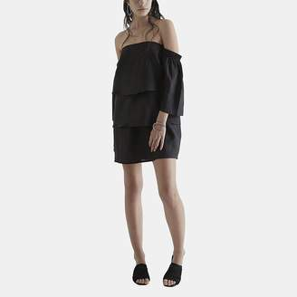 Paige Sir The Label SIR the Label Long Sleeve Off-the-Shoulder Dress