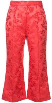 C/Meo floral cropped trousers
