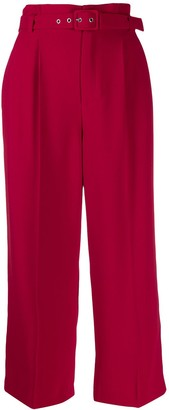 RED Valentino cropped paperbag trousers