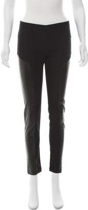 Acne Studios Faux Leather-Trimmed Skinny Pants