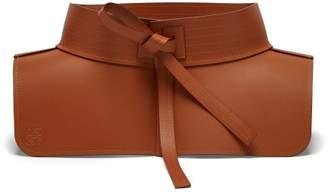 Loewe - Obi Style Leather Waist Belt - Womens - Tan