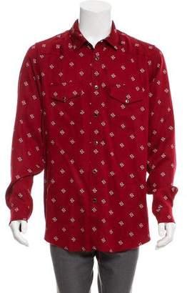 Amiri Snap-Up Paisley Shirt